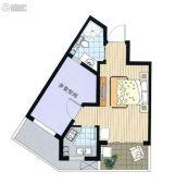 阳光100国际新城1室1厅1卫39平方米户型图