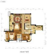 雅居乐新城湾畔3室2厅2卫121平方米户型图