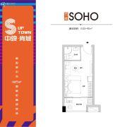 中骏・尚城1室1厅1卫33--40平方米户型图