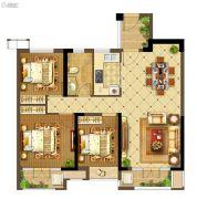 中建・状元府3室2厅1卫109平方米户型图
