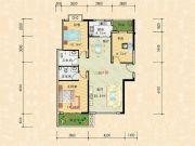 科特・明日华府二期3室2厅2卫117平方米户型图