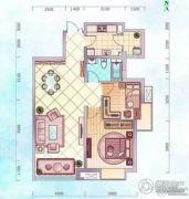 经纬壹�2室2厅1卫90平方米户型图