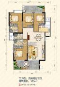 大悦花园2室2厅1卫80平方米户型图