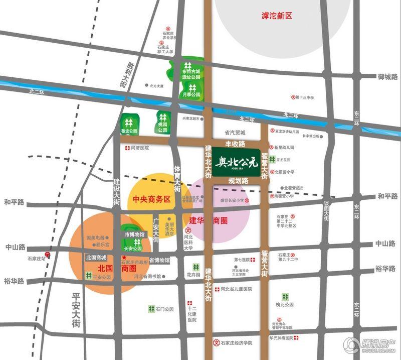 奥北公元商铺 区位图