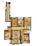 长乐阳光城翡丽湾4室2厅2卫128平方米户型图