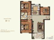 K2京西狮子城3室2厅1卫87平方米户型图