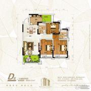 新恒基翡翠城3室2厅2卫102平方米户型图