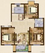 海洲・铂兰庭3室2厅1卫0平方米户型图