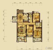 翰林世家4室2厅2卫143平方米户型图