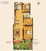 城建・锦绣城3室2厅1卫106--112平方米户型图