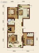 森晟江湾馨城3室2厅2卫0平方米户型图