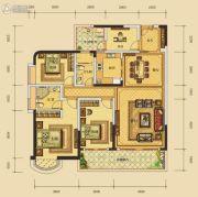 华晟豪庭三期4室2厅2卫145平方米户型图