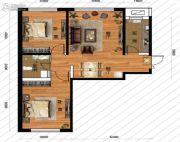 鹏博金城珑园2室2厅1卫93平方米户型图