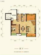 康田紫悦府4室2厅3卫98平方米户型图