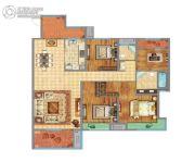 万达广场4室2厅2卫157平方米户型图
