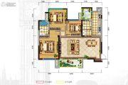 格林城3室2厅2卫105平方米户型图