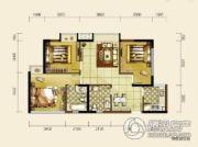 双发东城印象2室2厅1卫77平方米户型图