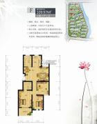 镜水蓝庭2期IN豪庭3室2厅2卫109平方米户型图