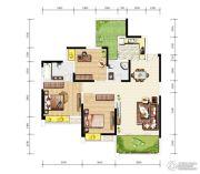 天成郦湖国际社区3室2厅2卫123平方米户型图