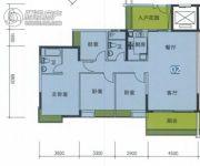 南华时代城4室2厅2卫134平方米户型图