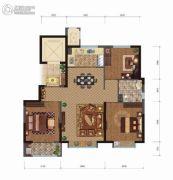 中建悦府3室2厅1卫106平方米户型图