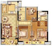 黄龙金茂悦3室2厅2卫90平方米户型图