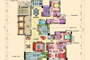 帝�Z东方5室2厅5卫305平方米户型图