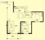 威望未来城悦居2室2厅1卫89--95平方米户型图