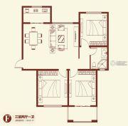紫薇壹�3室2厅1卫129平方米户型图