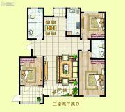 民泰・龙泰国际3室2厅2卫201平方米户型图