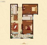 万国园白金汉府2室2厅1卫84平方米户型图