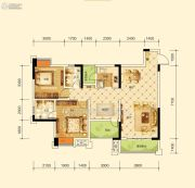 沱东印象3室2厅2卫99平方米户型图