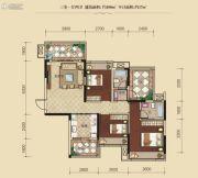 联发柳雍府3室1厅2卫108平方米户型图