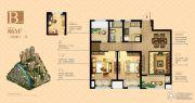 玫瑰香堤3室2厅1卫86平方米户型图