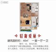 恒大帝景1室1厅1卫40平方米户型图