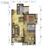 天娇苑・幸福城2室2厅1卫88平方米户型图