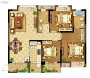 中建・状元府3室2厅2卫120平方米户型图