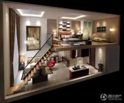 蓝光空港国际城1室2厅1卫97平方米户型图