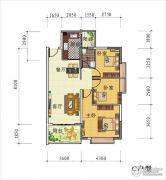 天禾春城3室2厅1卫0平方米户型图