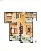 大正翡翠花园2室2厅1卫81平方米户型图