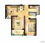 西海岸广场2室1厅1卫66平方米户型图
