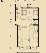 九星国际e世界3室2厅2卫139平方米户型图