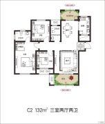 建业壹号城邦3室2厅2卫132平方米户型图