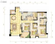 都城雅颂居4室2厅2卫190平方米户型图