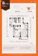 五和万科长阳天地2室2厅1卫80平方米户型图