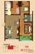 一诺・阳光鑫城3室2厅1卫122平方米户型图