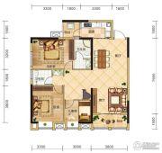 金安东诚3室2厅2卫120平方米户型图