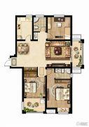 同科・汇丰国际3室2厅2卫131--135平方米户型图