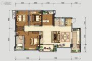 北星城4室2厅2卫120平方米户型图