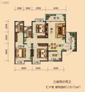 强兴时代家园3室2厅2卫0平方米户型图